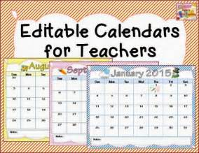 Free Editable 2015 Calendars for Teachers
