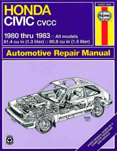 old cars and repair manuals free 1983 honda accord electronic toll collection honda civic 1300 1500 cvcc 1980 1983 haynes service repair manual sagin workshop car manuals