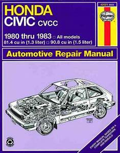 Honda Civic 1300 1500 Cvcc 1980 1983 Haynes Service Repair