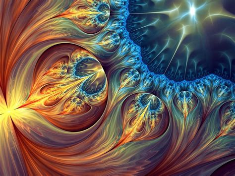 Abstraction Shapes Circles Art Colorful Fractal Wallpaper ...