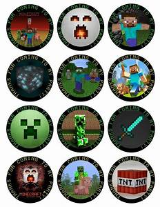 Free Printable Minecraft Cupcake Toppers | Minecraft ...