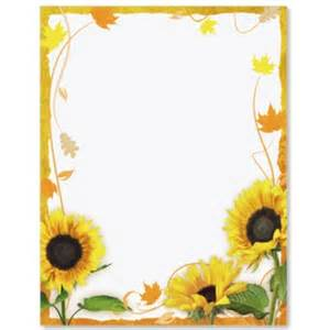 sunflower wedding programs sunflower border papers paperdirect