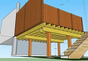 plan terrasse bois surelevee 3 plan de terrasse en bois With plan terrasse bois surelevee