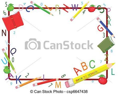 vettore di scuola cornicecsp6647438 cerca clipart illustrazioni disegni e immagini grafiche