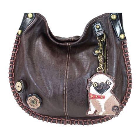 chala purse handbag hobo cross body convertible chocolate pug puppy dog dragonfly whispers