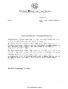 Unemployment Benefit Letter