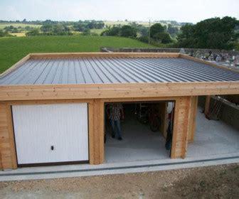 comment construire garage toit plat carport garage toit plat garage bois toit plat et