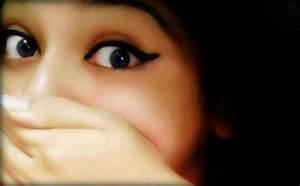 Beautiful girl eyes fb dp hide by hand - Facebook Display ...