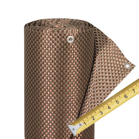 Balkonverkleidung Aus Kunststoff by Balkonverkleidung Kunststoffgeflecht Meterware Mocca