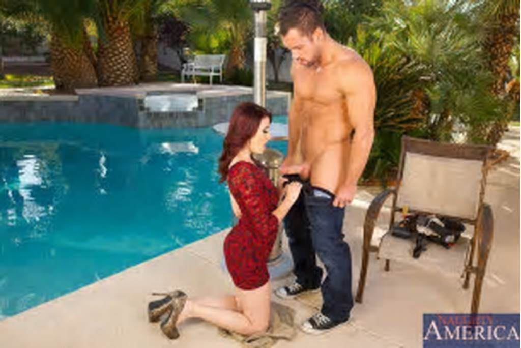 #Slutty #Redhead #Christine #Paradise #Kneels #Down #To #Suck #Dick