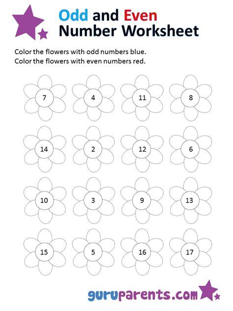 odd   number worksheets guruparents