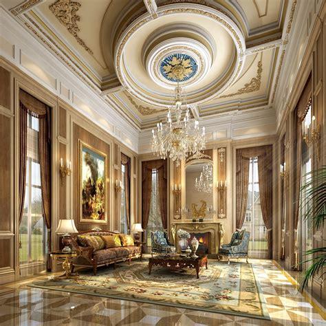 Classic Ceiling Design by Uxury Interior