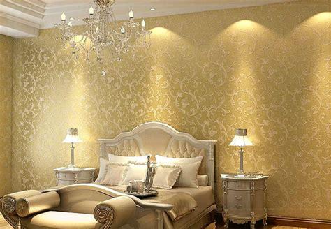 Goldene Tapete Schlafzimmer by Netherland Non Woven Bedroom Textured Glitter