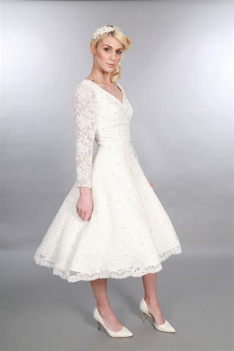 beautiful tea length short wedding dresses