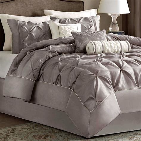 piedmont taupe 7 pc comforter bed set