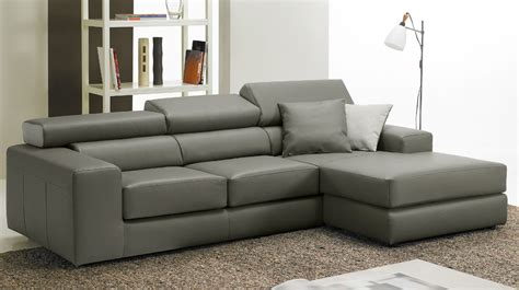 canape angle cuir gris canapé d 39 angle réversible en cuir gris pas cher canapé