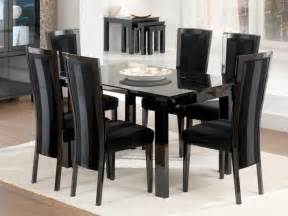 HD wallpapers dining table with black chairs
