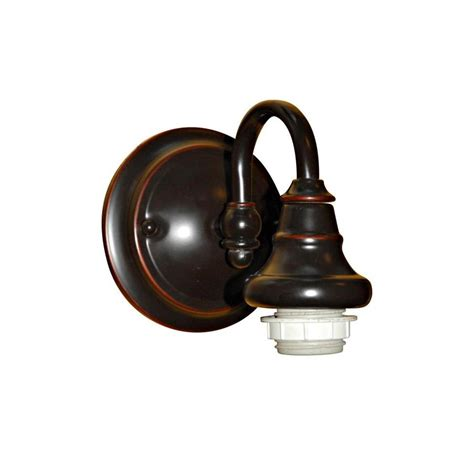 sconce lighting lowes shop portfolio 6 37 in w 1 light bronze arm hardwired wall