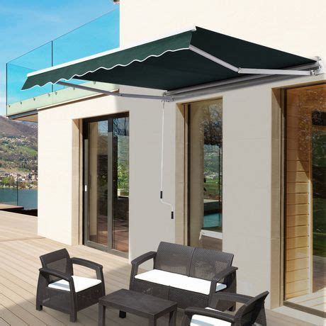 outsunny manual retractable awning walmart canada