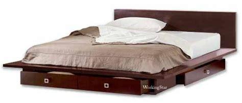 queen  king platform bed  drawers furniture