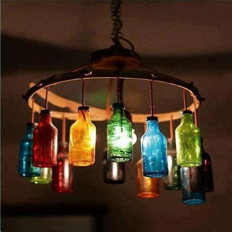 7 diy unique upcycled bottle lights diy recycled