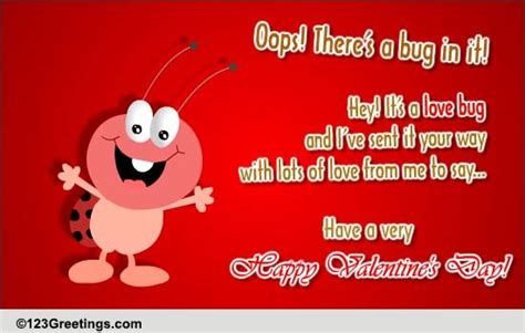 valentines day love bug  fun ecards greeting cards