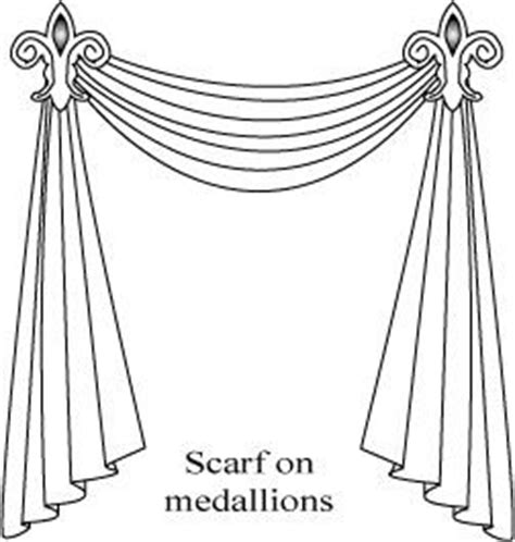 how to hang a curtain scarf for the home