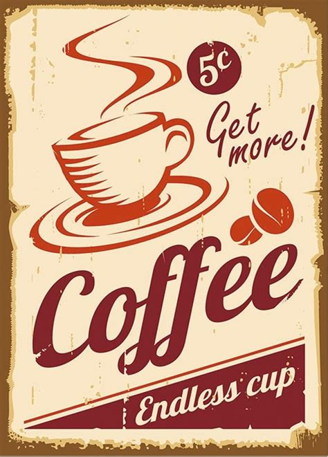 Design your everyday with vintage coffee posters you'll love. vintage poster - coffee | Art Prints, Posters and illustrations | Pin…