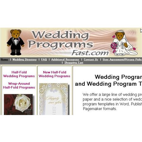 wedding program templates publisher publisher templates for wedding programs
