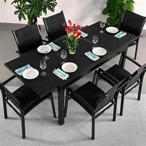 best table a manger verre noire contemporary lalawgroup With ensemble table chaise salle a manger