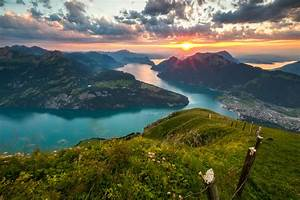 Swiss, Mountain, And, Lake, Hd, Wallpaper