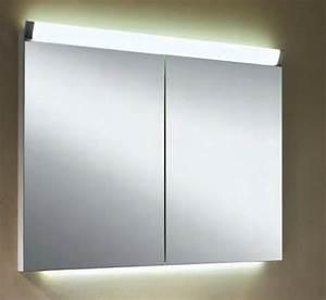 Spiegelschrank Bad Led : schneider paliline led spiegelschrank 80cm bei g nstiges bad ~ Frokenaadalensverden.com Haus und Dekorationen