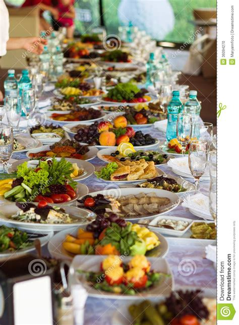 banquette table cuisine festive food stock photo image of hungry banquet cheese