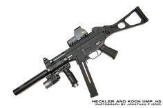 heckler koch mp5 pdw personal defence weapon with folding stock and detachable