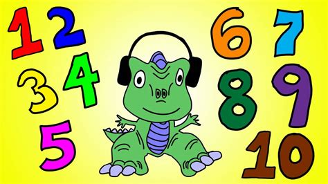 Dinosaur Numbers 1 To 10  Learn Numbers 1 To 10 With The Dinosaur Song Youtube