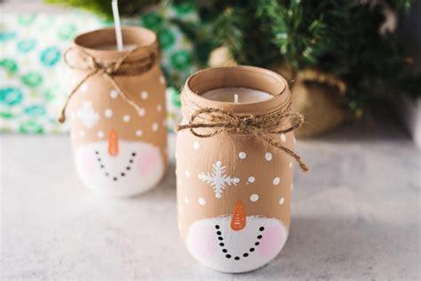 snowman mason jar candle allfreeholidaycraftscom