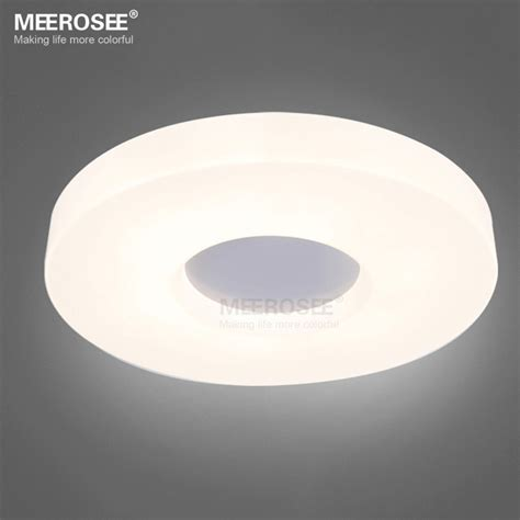 Led Light Room Size by Modern Ring Led Ceiling Light Fixture White Acrylic Flush