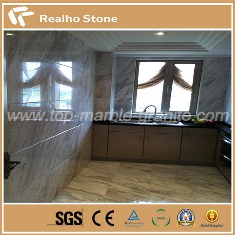 Greece Volakas Civic White Marble Tiles with Grey Viens