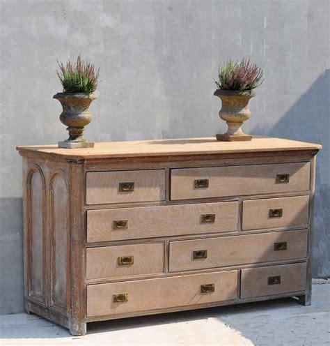 antique limed oak multiple drawer haberdashery counter