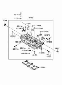 2010 Hyundai Accent Cylinder Head