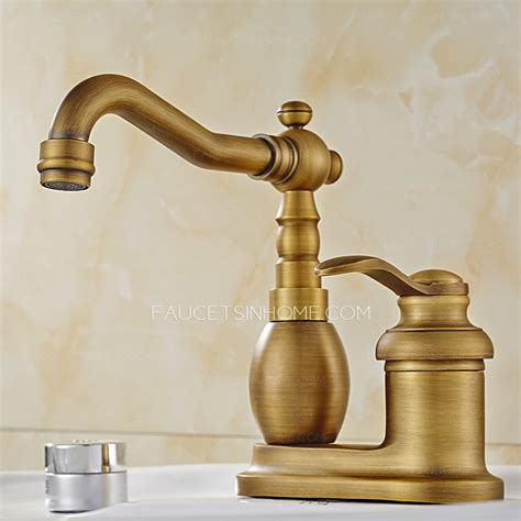 vintage bathroom sink faucets antique brass two hole rotatable bathroom sink faucet