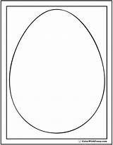 Shape Egg Coloring Template Pages Shapes Print Templates Sheet Colorwithfuzzy sketch template