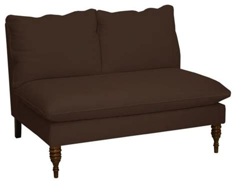 Traditional Settee by Custom Chilton Upholstered Settee Traditional Indoor
