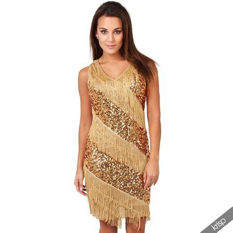 20er jahre kleid damen damen kleid fransenkleid pailletten 20er jahre swing charleston minikleid ebay