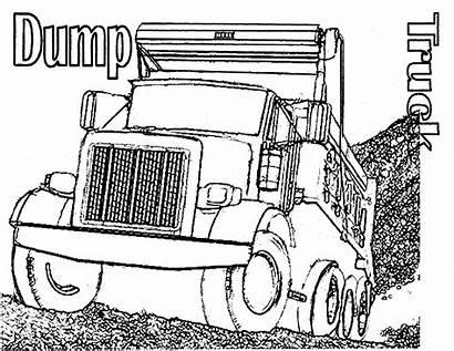 Coloring Truck Pages Dump Semi Trucks Printable
