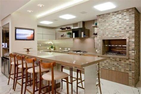 lustres de cuisine cozinha com churrasqueira 35 ideias para se inspirar