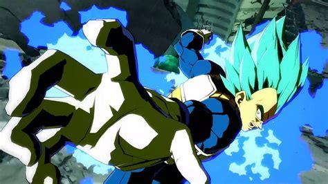 dragon ball fighterz super saiyan blue vegeta trailer