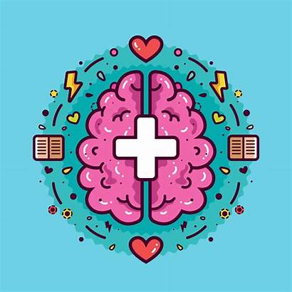Mental Health Vector Clipart Background Graphics Medical
