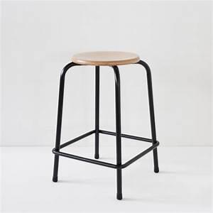 Tabouret Mi Hauteur : tabouret d 39 cole noir hauteur 60cm ~ Teatrodelosmanantiales.com Idées de Décoration