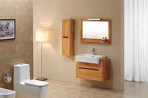 meuble haut salle de bain 90 cm With salle de bain design avec meuble sdb bois pas cher